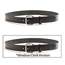 "Black Leather Belt 1-1/4"" Wide (1409)"