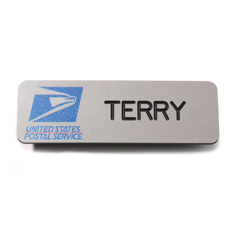 usps window clerk name badge qb postal