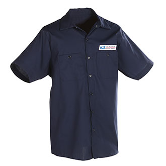Postal Uniform Shirt Poplin Short Sleeve for Mail Handlers and Maintenance Personnel (PX147)