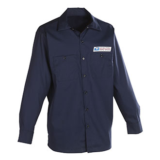 Postal Uniform Shirt Poplin Long Sleeve for Mailhandler and Maintenance and Custodial (PX146)