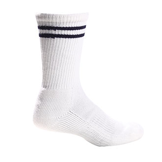 White Crew Length Socks with Spandex - Medium (PX40)