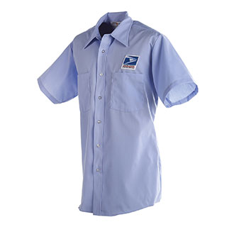 Postal Uniform Shirt Mens Short Sleeve for Letter Carriers and Motor Vehicle Service Operators (PX101)