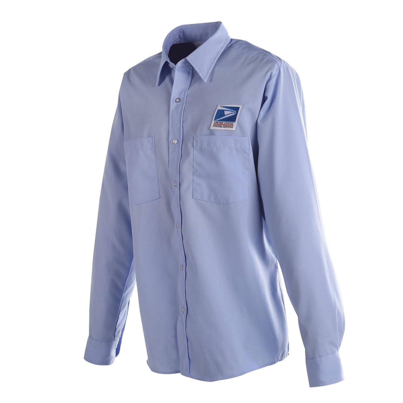 Postal uniform shirt mens long sleeve for letter carriers for Uniform shirts for men