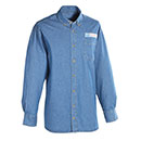 Postal Uniform Shirt, Denim Long Sleeve for Mail Handlers an