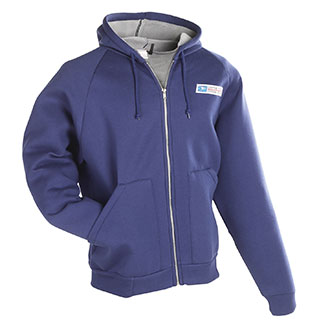 Zip Front Hooded Postal Sweatshirt for Mail Handlers and Maintenance Personnel (PX805)