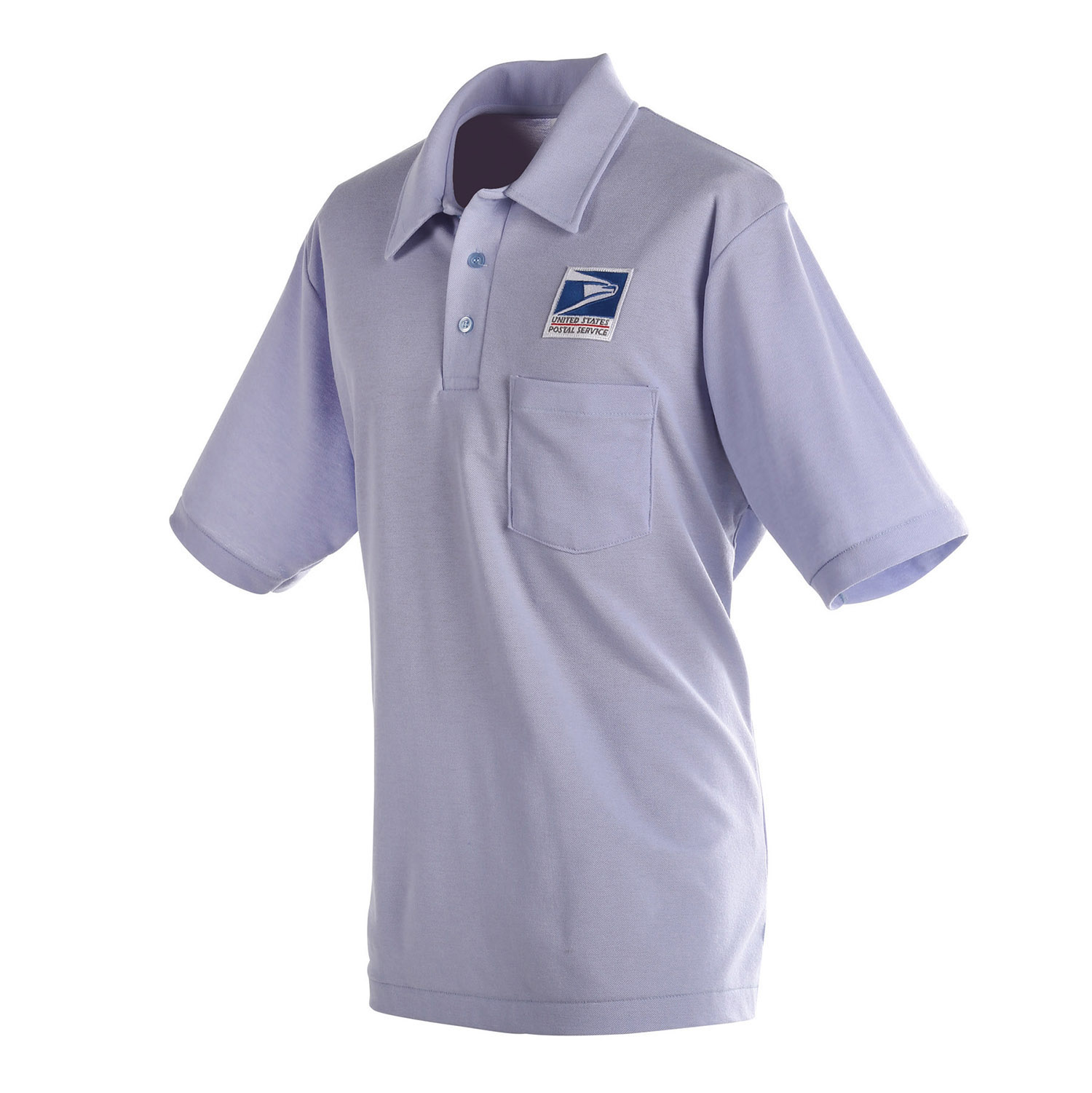 Mens knit polo shirt for letter carriers and motor vehicl for Knitted polo shirt mens
