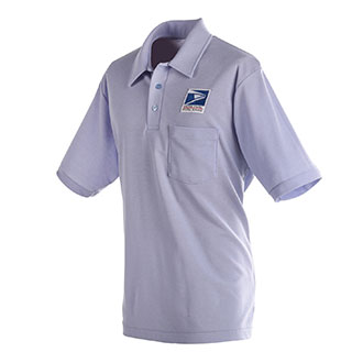 Mens Knit Polo Shirt for Letter Carriers and Motor Vehicle Service Operators (PX150)