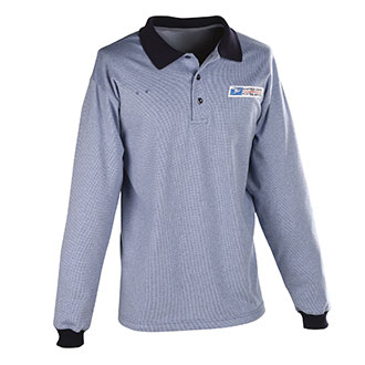 Postal Uniform Shirt Mens Polo Long Sleeve for Window Clerks (PX760)