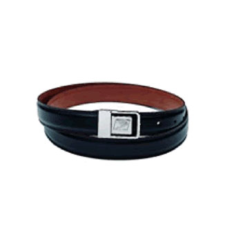 Black Leather Belt with Postal Eagle Logo Buckle for Window Clerks only (PX20S)